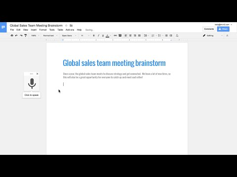 Google Docs now lets you edit and format your documents with your voice