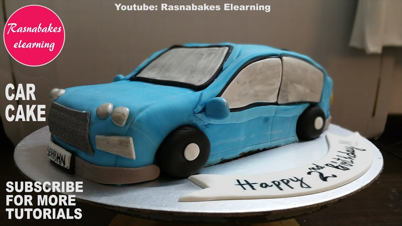 Fondant Icing Car Shaped Birthday Cake Design Ideas Sugar Craft Decorating Classes Tutorial Video