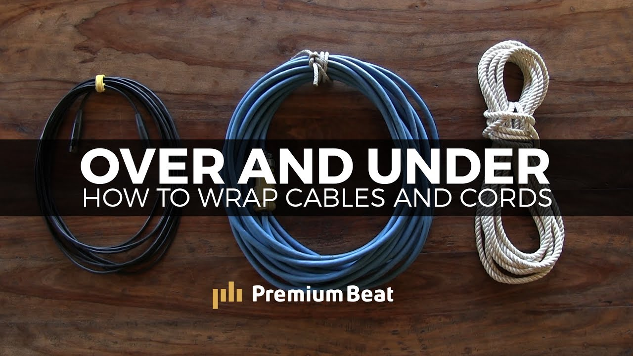 how to wrap cables and cords premiumbeat com [ 1280 x 720 Pixel ]