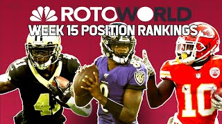 NFL Week 15 Fantasy Football Power Rankings: RB, WR, QB, TE | Rotoworld