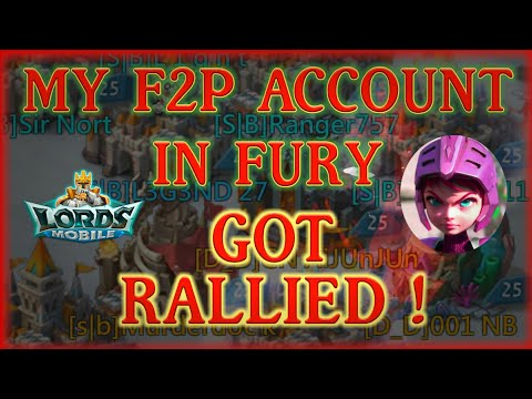 I WAS NOT READY - FULL RALLY ON F2P ACCOUNT || Lords Mobile