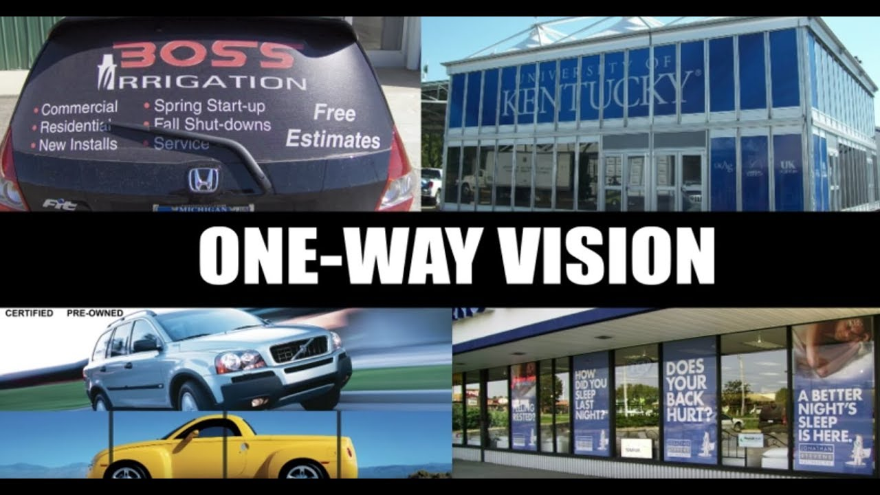 One Way Vision Youtube Kaca Film Oneway Premium