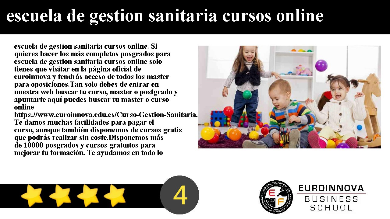 Escuela De Gestion Sanitaria Cursos Online Youtube