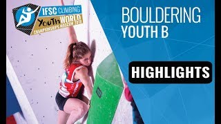 IFSC Youth World Championships Moscow 2018 - Youth B Bouldering Finals Highlights