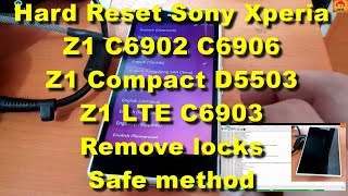 Hard Reset Sony Xperia Z1 C6902 C6903 C6906 D5503 Remove All Locks