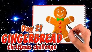 How to draw Gingerbread man Easy drawing tips