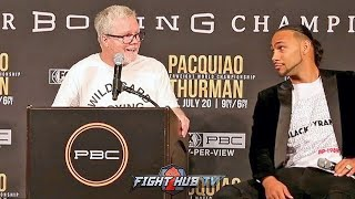 """DAMN! FREDDIE ROACH TELLS KEITH THURMAN TO HIS FACE """"MANNY IS GONNA DESTROY YOU!"""""""