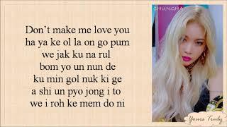 Chung Ha (청하) - Snapping (Easy Lyrics)