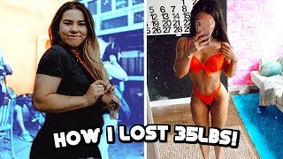 How I lost 35lbs! How to lose weight!