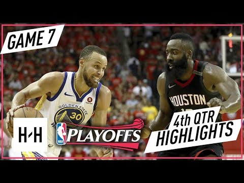 Golden State Warriors vs Houston Rockets - Full Highlights - Game 7 - 4th Qtr | 2018 NBA West Finals