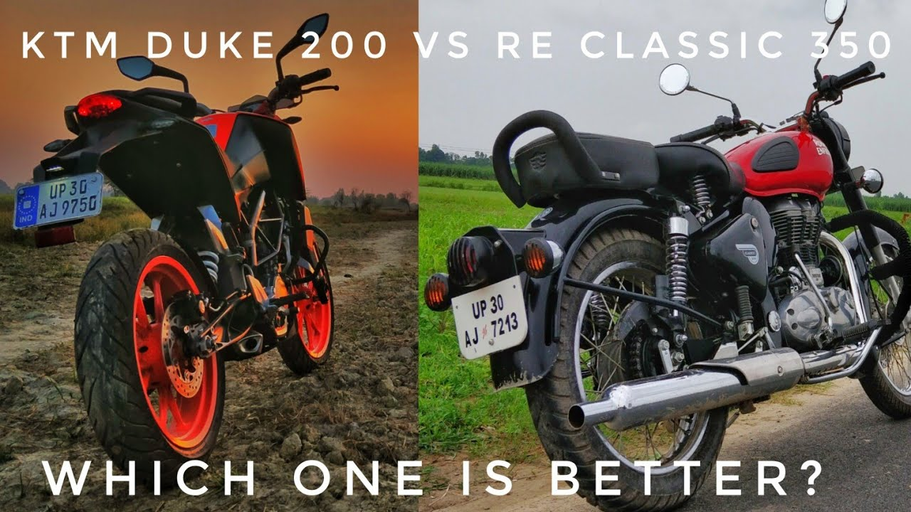 Ktm Duke 200 Vs Royal Enfield Classic 350 Comparison In Hindi