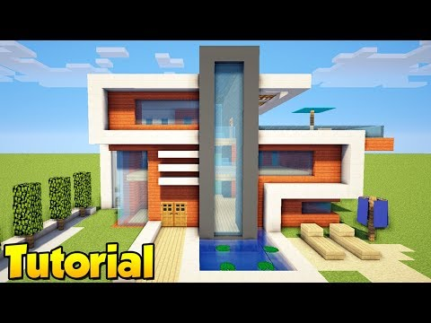 How to make a large modern house in minecraft step by