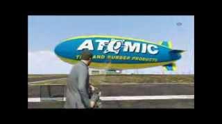 GTA V Minigun vs Atomic Blimp
