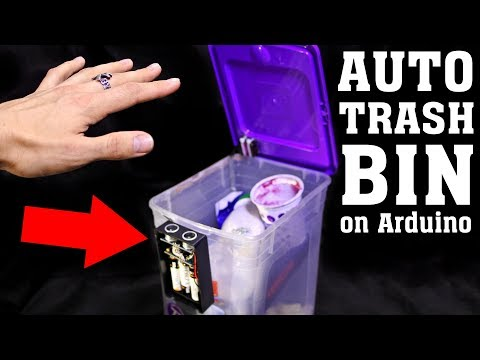 DIY Automatic Trash Bin [Arduino and XOD]