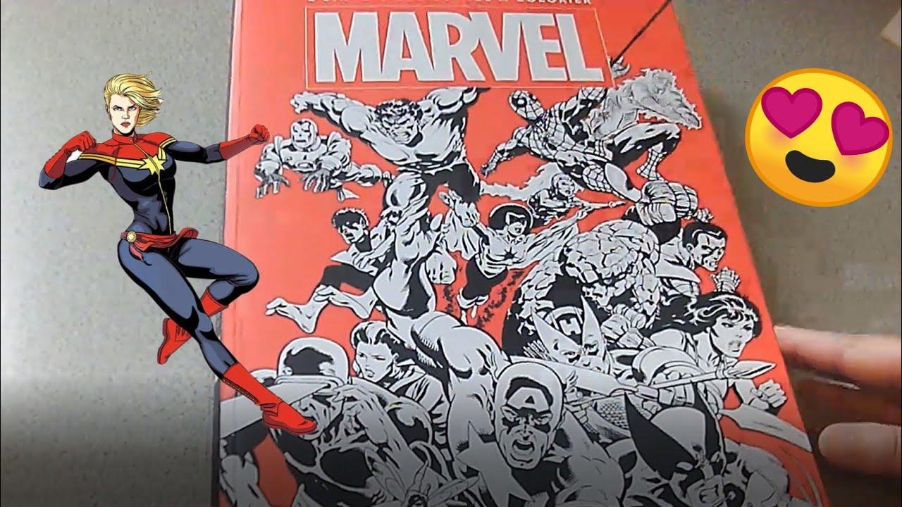 L Univers Des Comics A Colorier Marvel Hachette Heroes