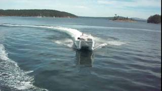 Catamaran Jumping waves. New Design by Beaudry Mfg. Ltd.