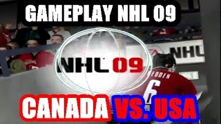 NHL 09 (Gameplay) - Canada Vs. USA