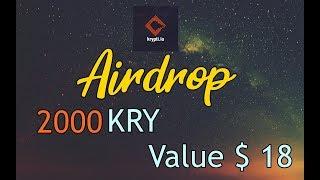 Krypti Airdrop 2000 KRY Tokens ~ $18