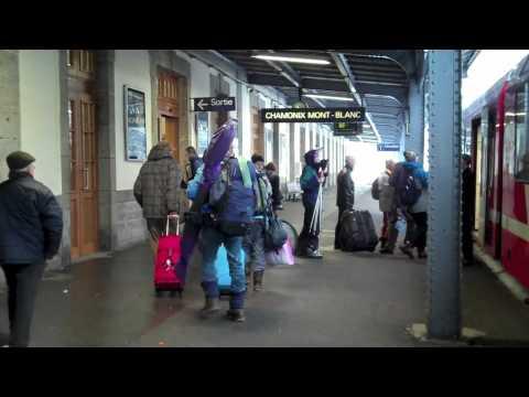 Overnight train to Chamonix