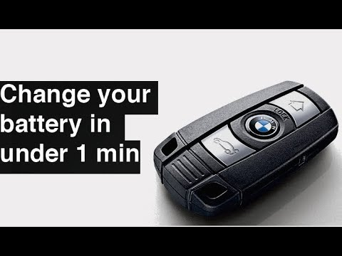 How To Change Replace Bmw Key Fob Battery 1 3 5 6 Series Youtube