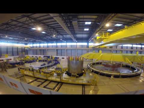 Time lapse from inside the Poloidal Field Coils Winding Facility
