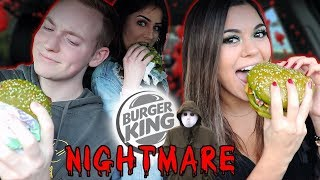 Trying The GREEN NIGHTMARE BURGER from Burger King!