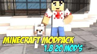 Minecraft ModPack 1.8 - 20 MODS - (MINECRAFT PACK DE MODS 1.8) #2