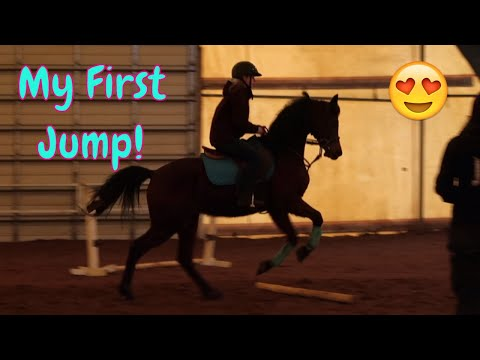 🐎My First Time Jumping On A Horse! 🐎English Riding Lessons! 😍First Day TV
