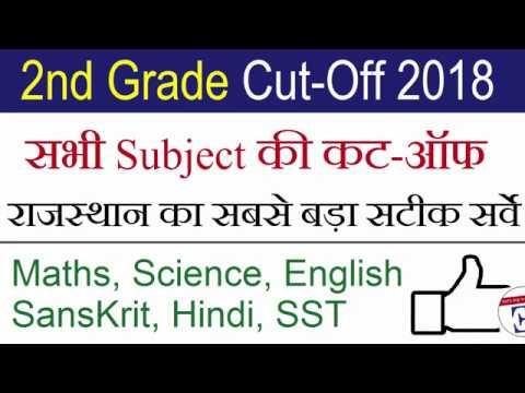 RPSC 2nd Grade All Subject Cutoff 2018 Maths Science Hindi SST Sanskrit  English