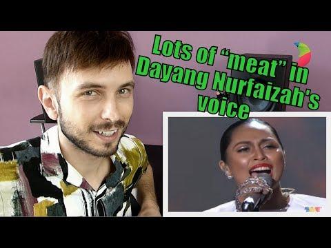 Vocal Coach YAZIK reacts to Dayang Nurfaizah - Di Pintu Syurga #AJL29