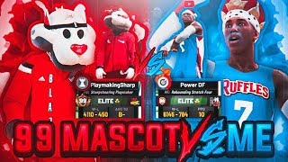 99 OVERALL SHARPSHOOTING PLAYMAKER VS POWER DF • THE BEST BUILD IN THE GAME VS MASCOT! NBA 2K19