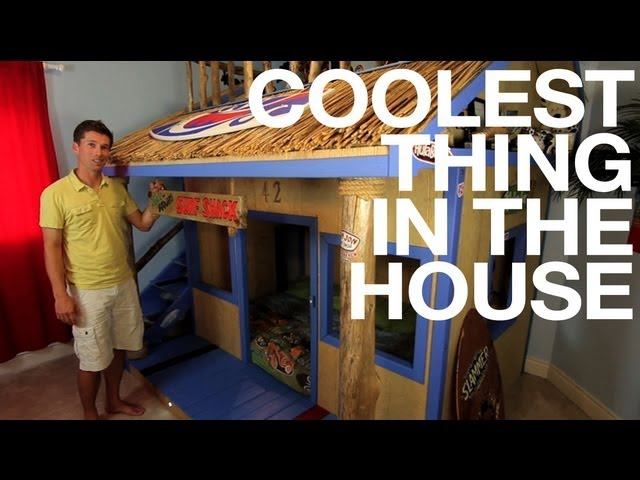 Kids Room Diy Bunk Bed Surf Shack Coolest Thing In The House Ep19 Youtube