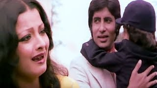 Amitabh Bachchan and his son leave Rekha alone | Do Anjaane | Bollywood Scene 29/31