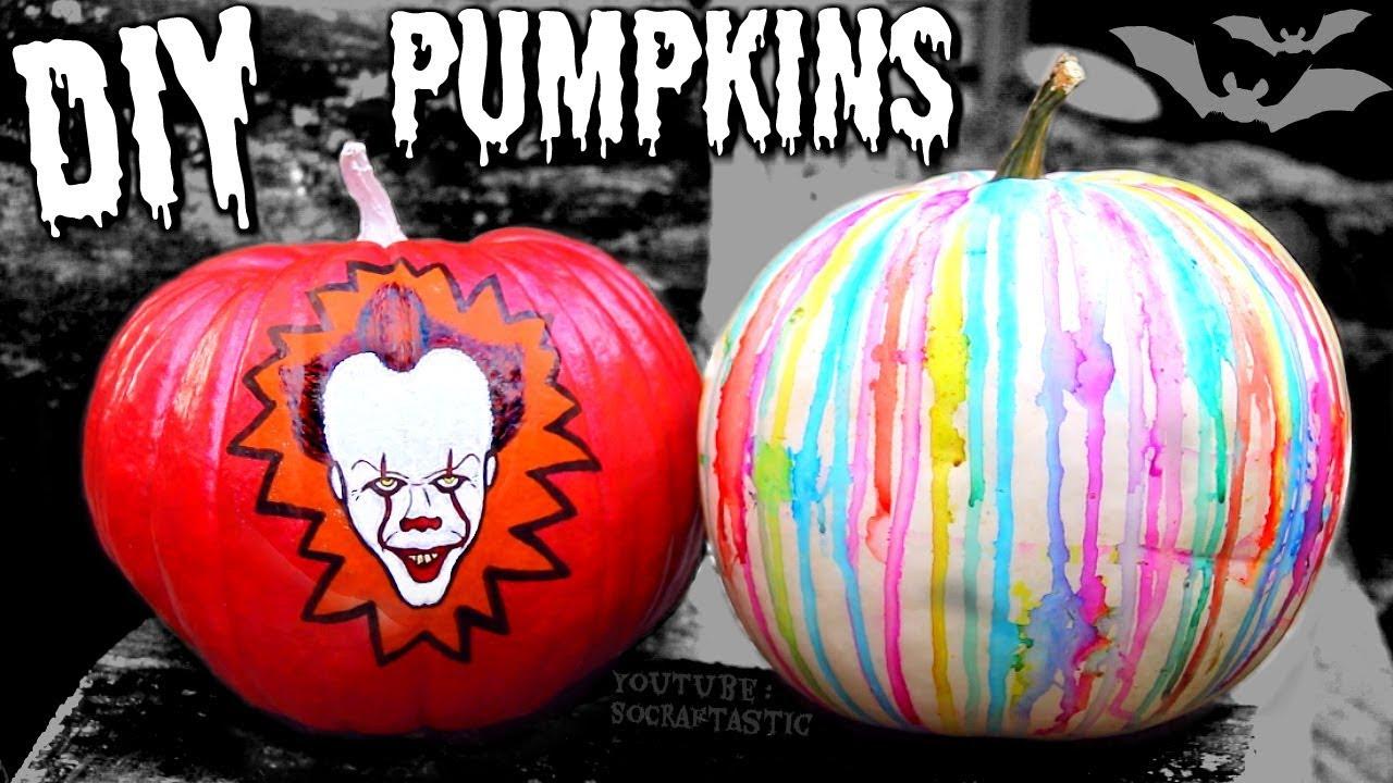 diy sharpie pumpkins - no-carve pumpkin designs | socraftastic - youtube