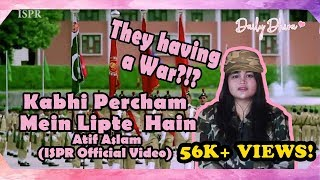 Indonesian Girl's Reaction to Kabhi Percham Mein Lipte Hain   Atif Aslam ISPR Official Video