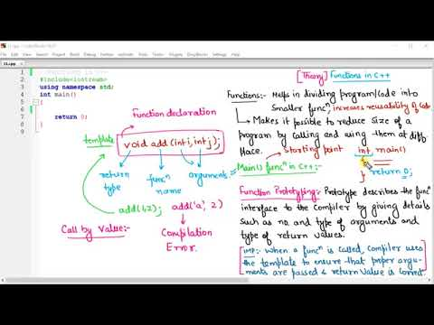 C++ in Hindi   Functions, Call by Value and Reference with Complete Programming in Hindi   YouTube