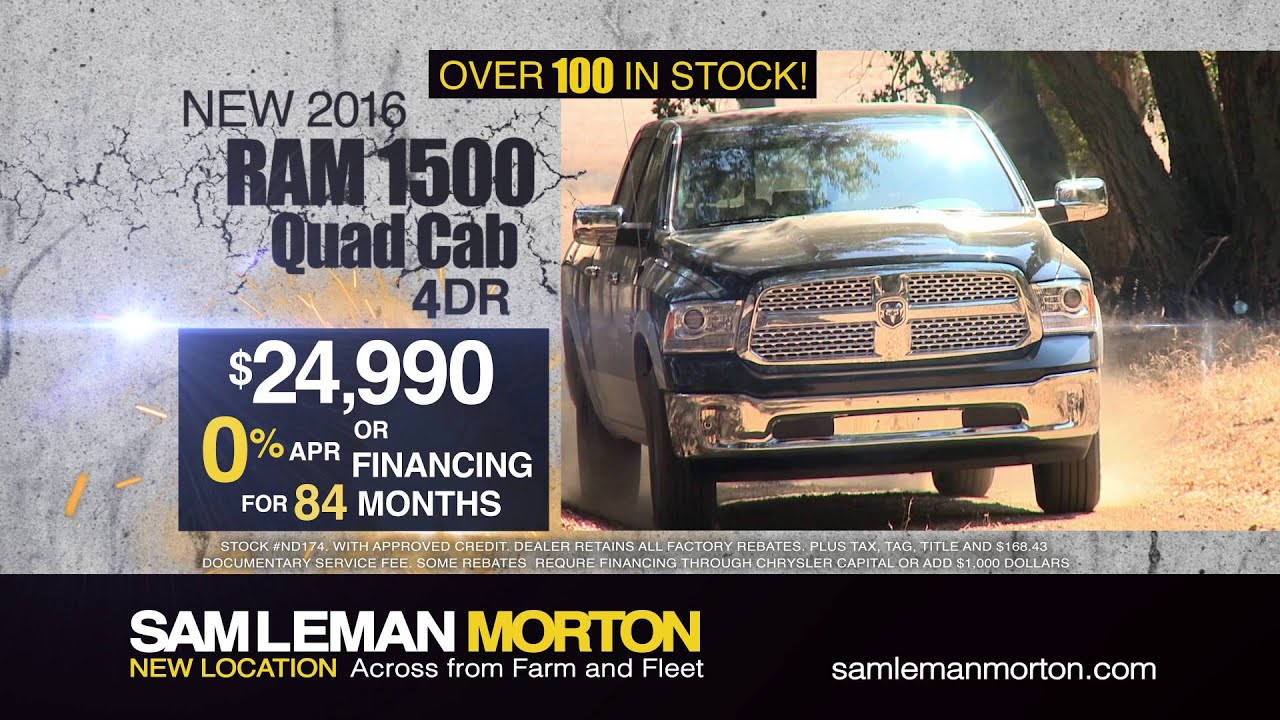 "Sam Leman Chrysler Dodge Jeep Ram Morton ""Truck Month"" 2 2016"