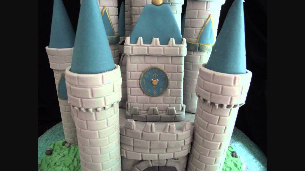 Disney Castle Cake Tutorial With Characters Youtube