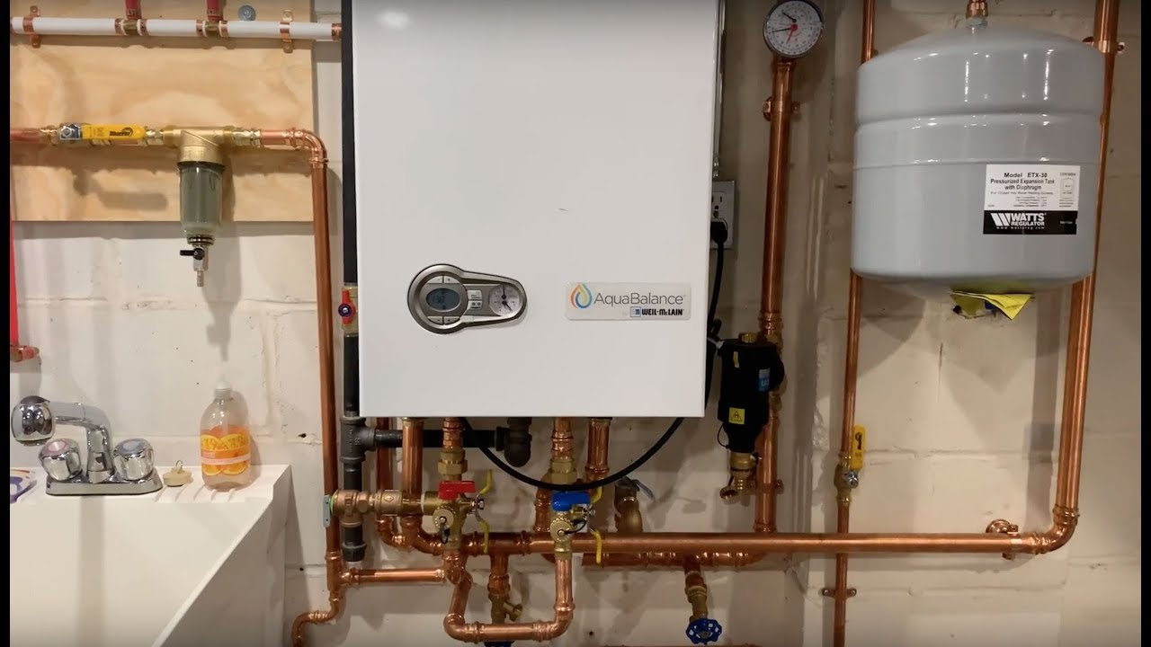 hight resolution of aquabalance combi boiler water heater installed