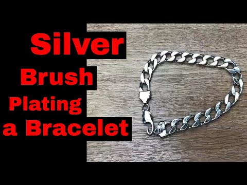 How To Silver Plate a Big  Chain Bracelet