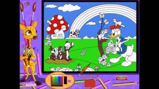 Mickey egér játszótere Donald kacsa online színező