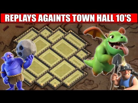 WORLDS BEST Town Hall 9 War Base | Replays vs MAX TH10 TROOPS - 2016 UPDATE