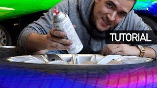 NUEVO COLOR DE MIS RINES (TUTORIAL: CÓMO PINTAR RINES CON PINTURA REMOVIBLE) | JUCA