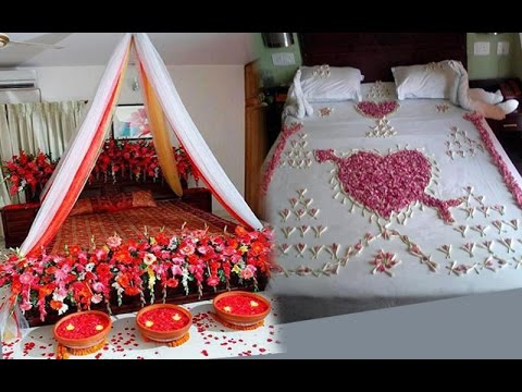 Wedding bedroom decoration ideas wedding bedroom for Bed decoration with flowers and balloons