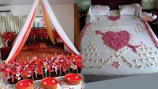 Wedding Bedroom Decoration Ideas   Wedding Bedroom Decoration With Flowers