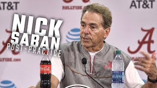 What Nick Saban had to say following fall practice on Thursday