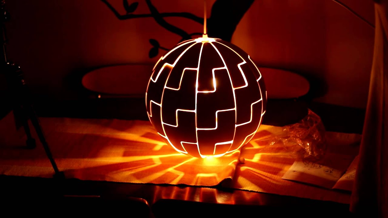 ikea death star lamp light timelaps youtube. Black Bedroom Furniture Sets. Home Design Ideas