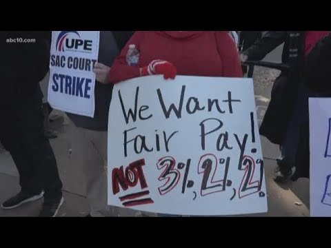 Sacramento court employees strike, leading to longer lines and wait times