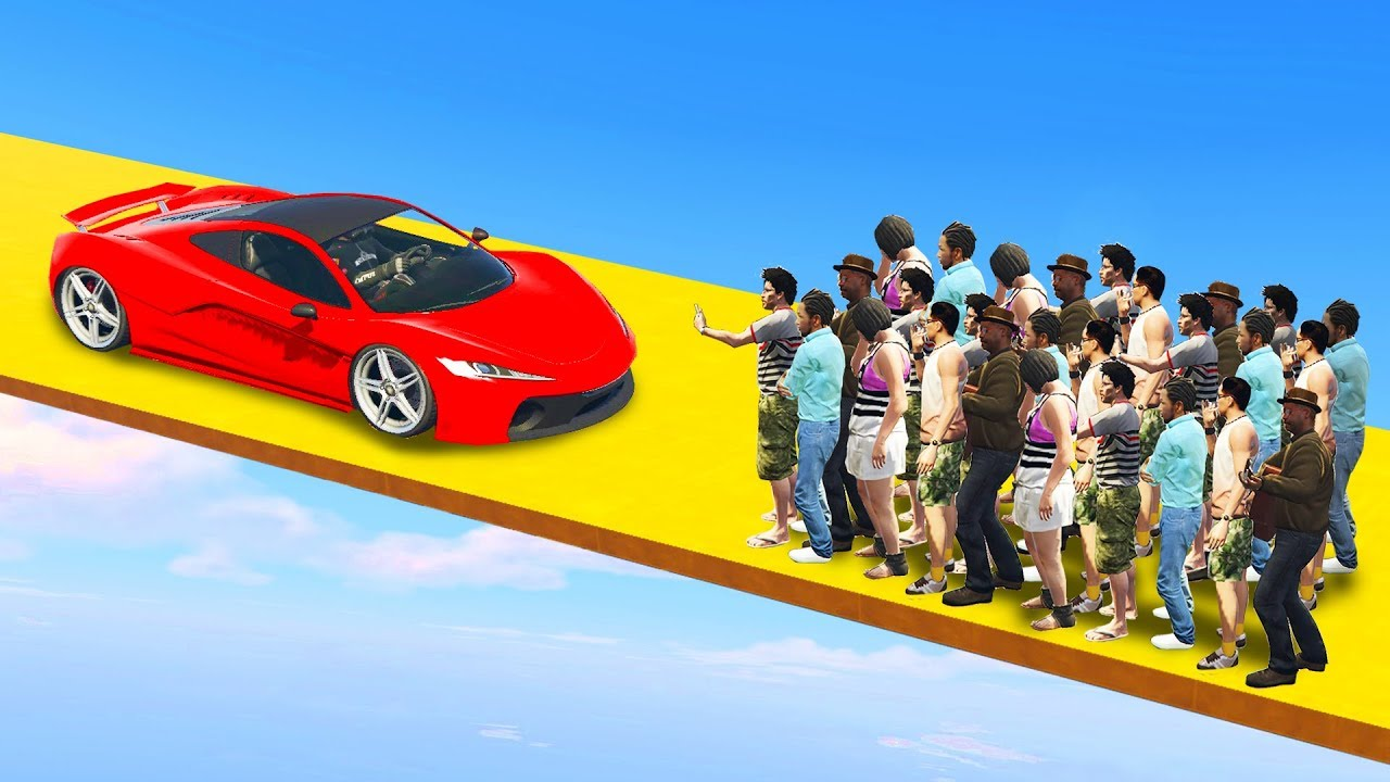 EXTREME CARS VS RUNNERS SMASH  GTA 5 Funny Moments  YouTube