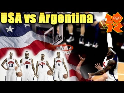 FIBA 2K12 - USA vs ARGENTINA - Men